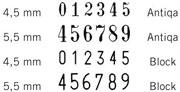 B6 sorszámbélyegző